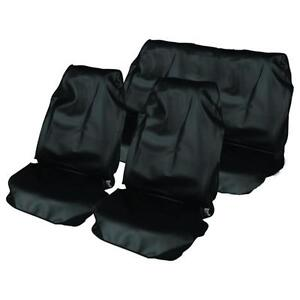 BLACK CAR WATER PROOF FRONT & REAR SEAT COVERS FOR MITSUBISHI EVO 3 4 5 6 94-01