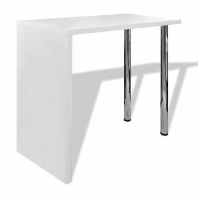 vidaXL Mesa de Centro patas Acero MDF Blanco con Brillo Mesita de...