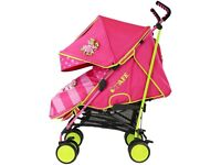 Lovely pink and green pushchair in great condition
