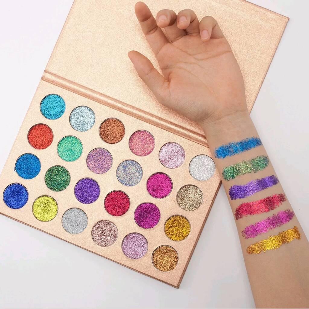 24 Pressed Glitter Eyeshadow Palette