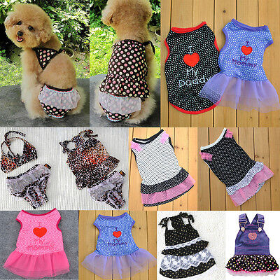 Chihuahua Costumes (Pet Dog Cat Dress Skirt Chihuahua Teddy Puppy Clothes Shirt Costume Apparel)