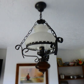 Pair of Oil hanging glass lights