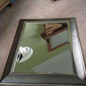 Gold/brass effect mirror