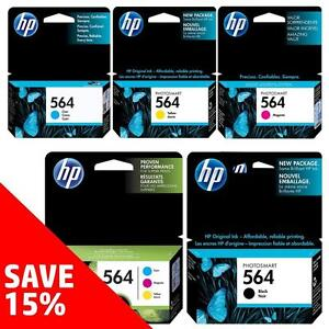 Original HP 564-Ink Black (& Colour) - Buy 2 Direct from HP Save 15%