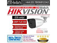 Hikvision Turbo-HD 2MP HiWatch Bullet Camera Smart IR (white)