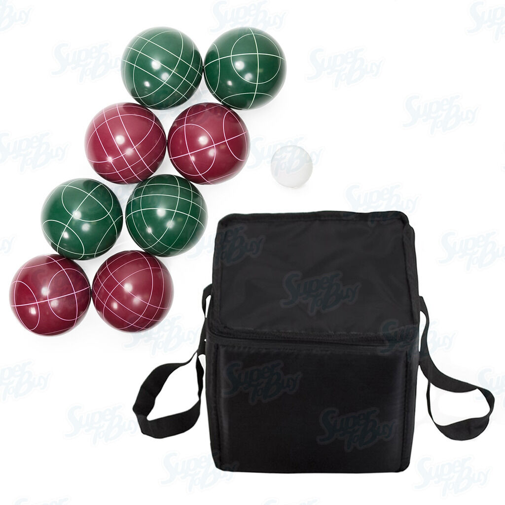 bocce ball set 90mm 9 piece with nylon carrying case pallinajack ball game