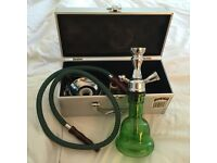 Shisha Hookah, like new, with travel case and accessories