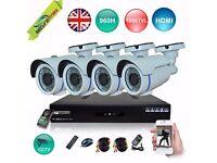 4 CHANNEL CCTV CAMERAS KIT, 1080P 960H DVR, 1200TVL, 3.6MM-4KIT