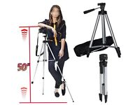"50"" UNIVERSAL CAMERA CAMCORDER TELESCOPIC MOVIE PHOTO TRIPOD STAND + CARRY CASE"