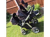 ICandy Apple to Pear convertible double buggy