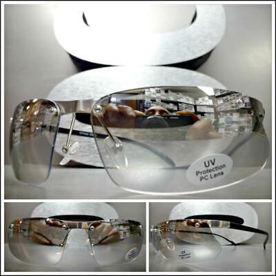 Moderne Zeitgenössisch Gehobene Luxus Mode Sonnenbrille Klar Linse Slight Getönt