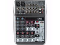Behringer Xenyx Q1002USB Mixer with a bunch of extra cables!