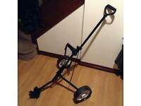 Folding golf trolley