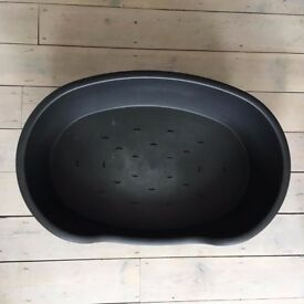 FREE (collection only) Plastic dog bed - size large 80cm black Ruffer + Tuffer very good condition