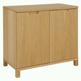 John Lewis Abacus Wide Cupboard, Oak