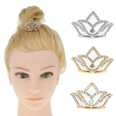 Novelty Girls Princess Tiara Crown w/Comb For Kids Dress up Hair Accessory