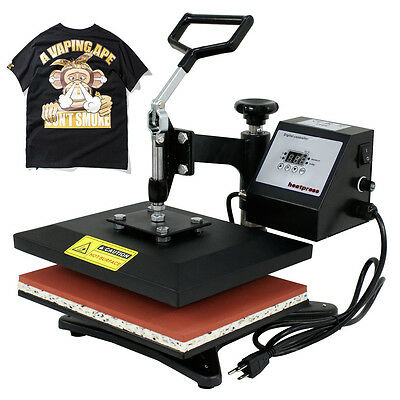 T-shirt Heat Press Sublimation Transfer Machine Compact 10 X 12 Swing Away