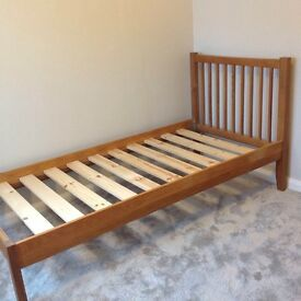 Oak-framed single bed (2 of 2 for sale)