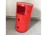 Kartell 3 compartment storage unit, bedside table, toy storage etc.