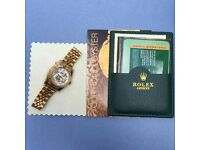 new boxed all gold ladies datejust rolex whatsapp to see all available
