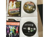 Wii Just Dance 2 and Wii Country Dance