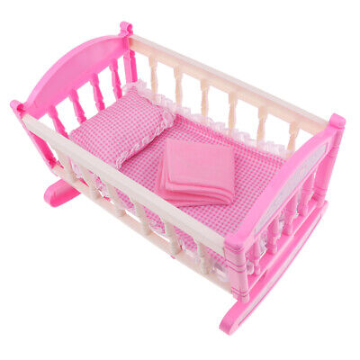 Reborn Bed Cradle Baby Doll Bed Reborn Baby Girl Doll Bed Doll Accessories