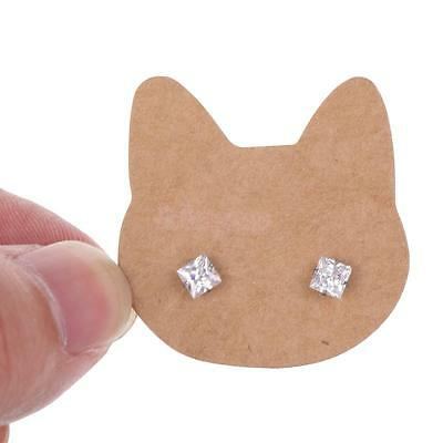 100pcs Cute Cat Kraft Fashion Jewelry Display Earrings Pins Gift Cards Tags
