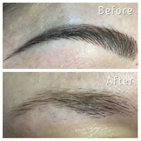 3 D eyebrow microblading $150 free touch up