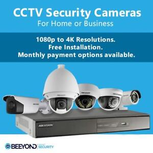 CCTV Security Cameras / Smart Home Security Alarm Systems | Free Installation | Monthly Payment Option Available