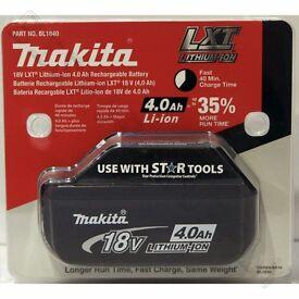 Makita BL1840 18V 4.0Ah LXT Li-Ion Battery Genuine Star battery 2017