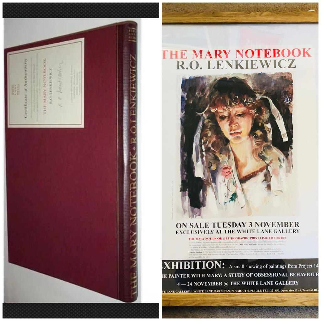 Robert Lenkiewicz 'The Mary Notebook', with certificate, together with Framed 'Mary' Poster,