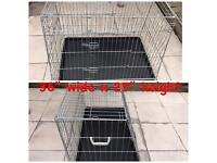 Large dog crate 36 inch designed for a car.