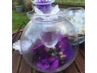 Glass bowls for wedding table decs- includes tea light holders