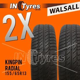 2x 155/65R13 Kingpin Tyres Fitting Available Two 155 65 13 Tyres x2 Walsall