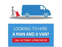 MAN & A VAN SERVICES AVAILABLE TODAY