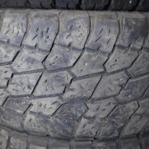 2 NITTO TERRA GRAPPLER AT LT 285/70R17 10 PLY TIRES 80% TREAD