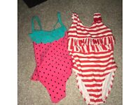 Baby girls swim wear age 1.5-2 years and sandals size 7 infant size