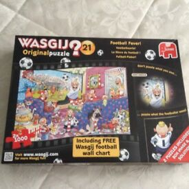 Wasgij 2 X 1000 pieces in as new condition perfect gift