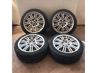 BMW 3 Series M Sport E46 E90 E92 17'' inch Alloy Wheels - 5 x 120 215/45 - Perfect Tyres - £130 ono