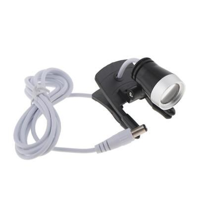 Dental Portable 1w Led Headlight Lamp Clip-on Type For Bincolar Loupe New