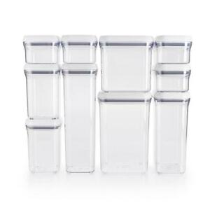 NEW OXO Good Grips 10-Piece Airtight Food Storage POP Container Value Set