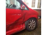Red VW Touran 2003 1.9 SE Tdi Repair Spare