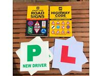 Highway Code / road sign books, L plates and P plates - Free