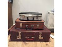 Vintage suitcases X3 great for weddings or shabby chic decor