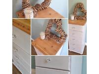Shabby chic drawers dresser storage