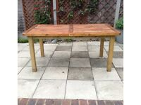 Wooden garden table, vgc