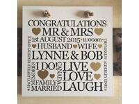 Personalised Wedding Plaque Gift