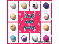 New range in our bath bomb and Dead Sea salt