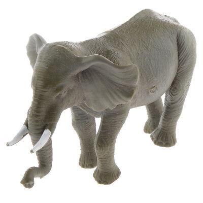 Plastic Elephant Animal Model Action Figure Toy Collectible Zoo Layout #2