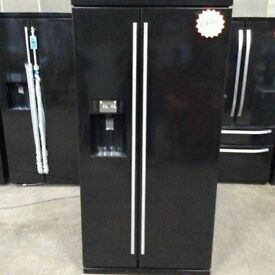 RangeMaster Black A+++ Class Total No Frost American Style Fridge Freezer With Water Dispenser